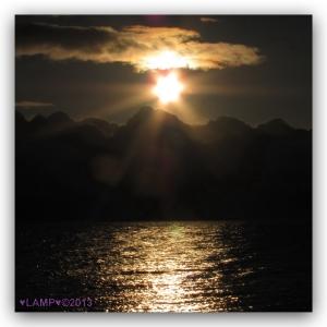 Sunrise over Resurrection Bay